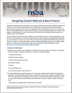 NSBA Student Protest Guidance Image